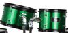 Green Complete Junior Drum Set With Sticks Stool Hardware and Cymbals