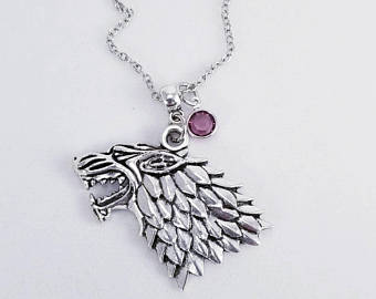 Game of Thrones House Stark of Winterfell Necklace