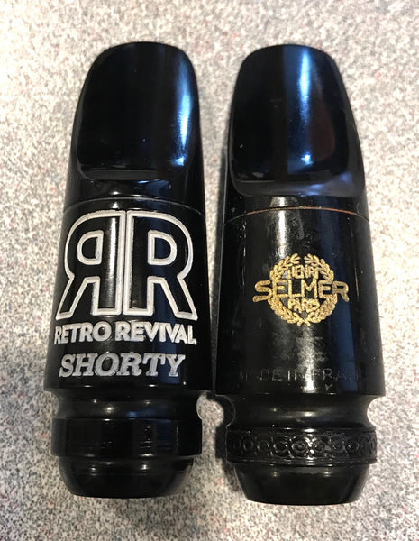 """SHORTY"" Replica 50's Selmer Scroll Shank-Round Chamber Soprano Sax Mouthpiece"