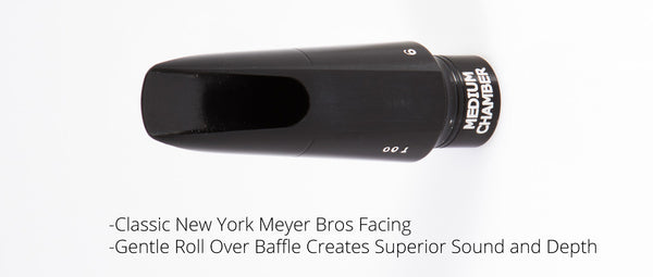 """New Yorker""  Replica Vint. New York Meyer Bros Alto Saxophone Mouthpiece"