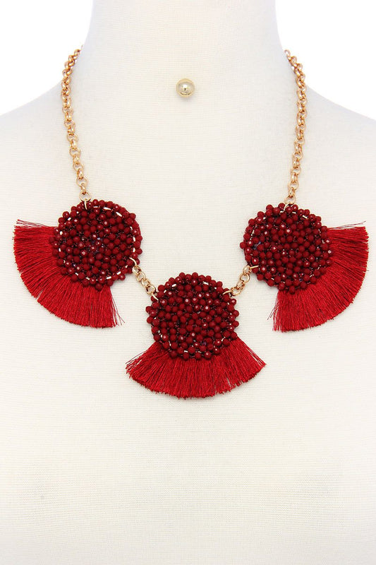Multi pattern fashion necklace and earring set - LockaMe Designs
