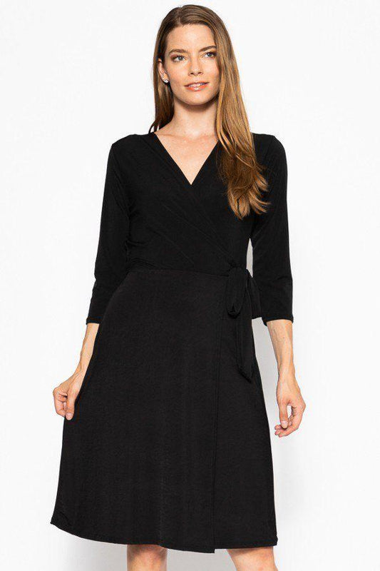 Midi 3/4 Sleeve Dress - LockaMe Designs