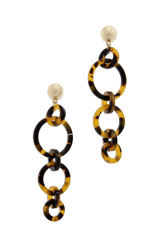 Multi Resin Round Chain Fashion Earring - LockaMe Designs