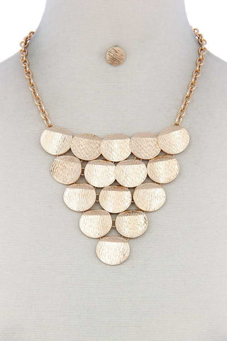 Disc Linked Bib Necklace - LockaMe Designs