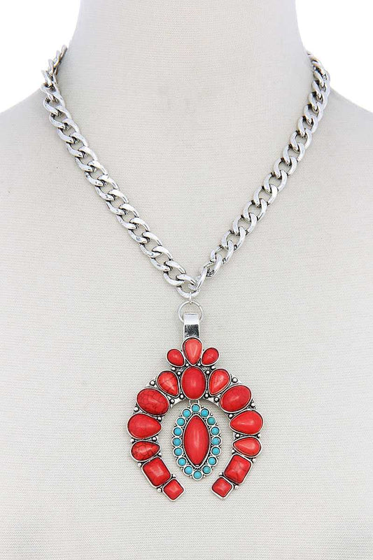 Multi Stone Pendant Necklace - LockaMe Designs