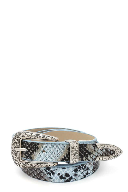 Snake Pattern Pu Leather Belt - LockaMe Designs