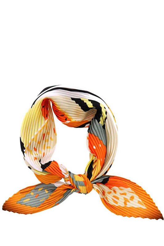 Fashion Pleated Multi Pattern Bandana