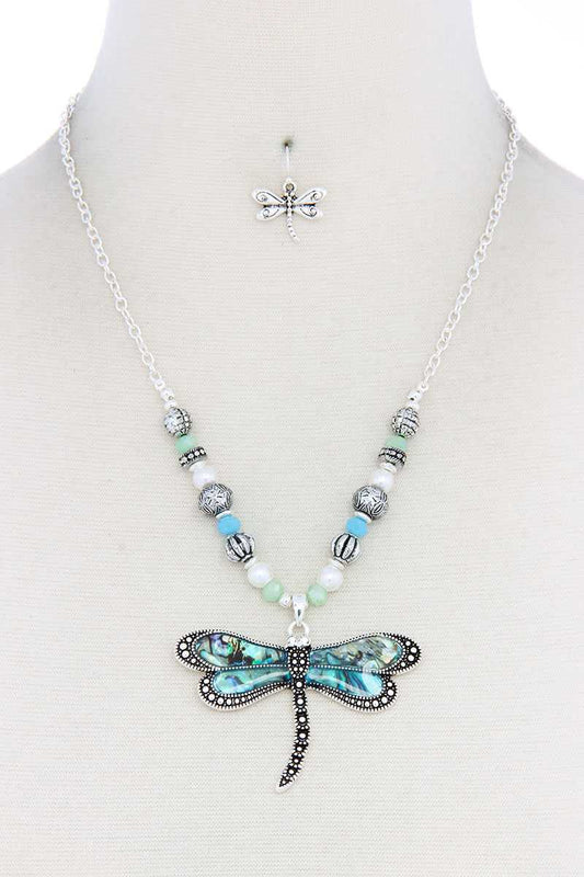 Dragonfly Pendant Necklace - LockaMe Designs