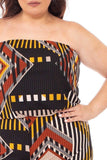 Abstract Print Tupbe Top Plus Size Jumpsuit - LockaMe Designs