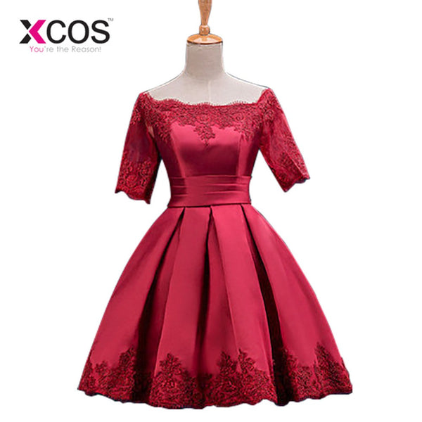 0720a64ae9 Cocktail Dresses Jersey Women Girls Graduation Dress Homecoming Embroidery  Above Knee Party A-line Evening