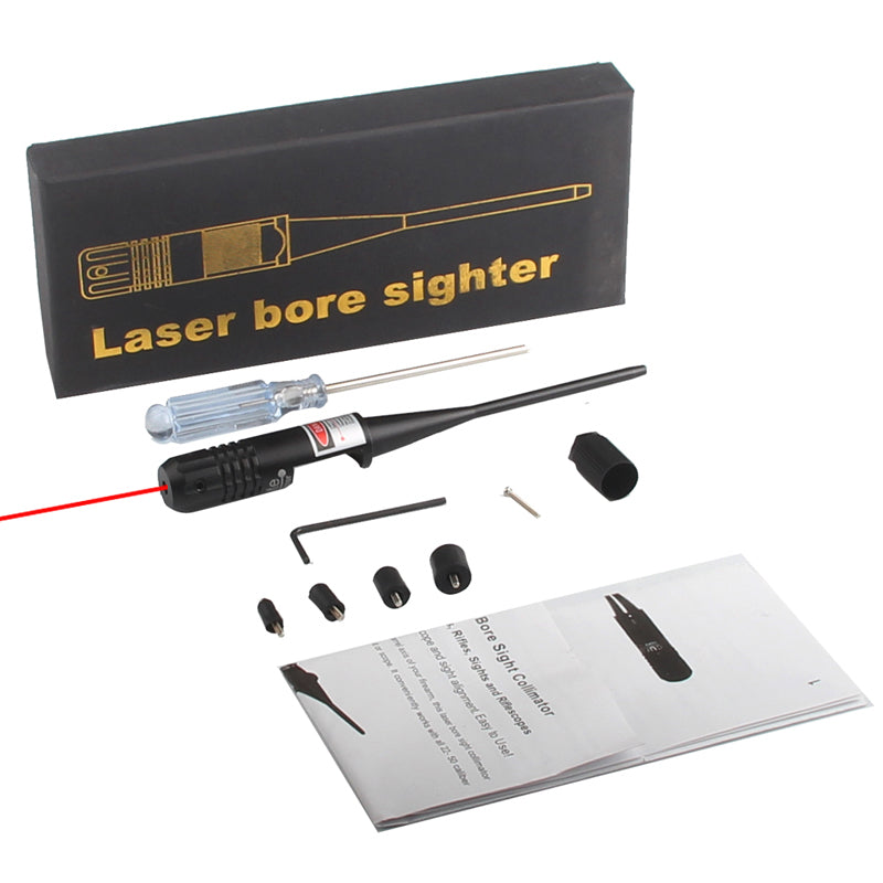 Tactical Red Dot Laser Bore Sighter Laser Scope Sight .22 Caliber Rifle