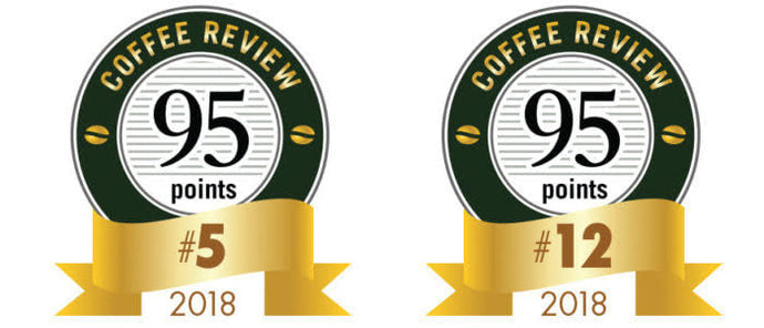 We're #5 and #12 on Coffee Review's Top 30 Coffees of 2018!
