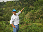 Coffee producer Roberto Brenes at Auromar Estate