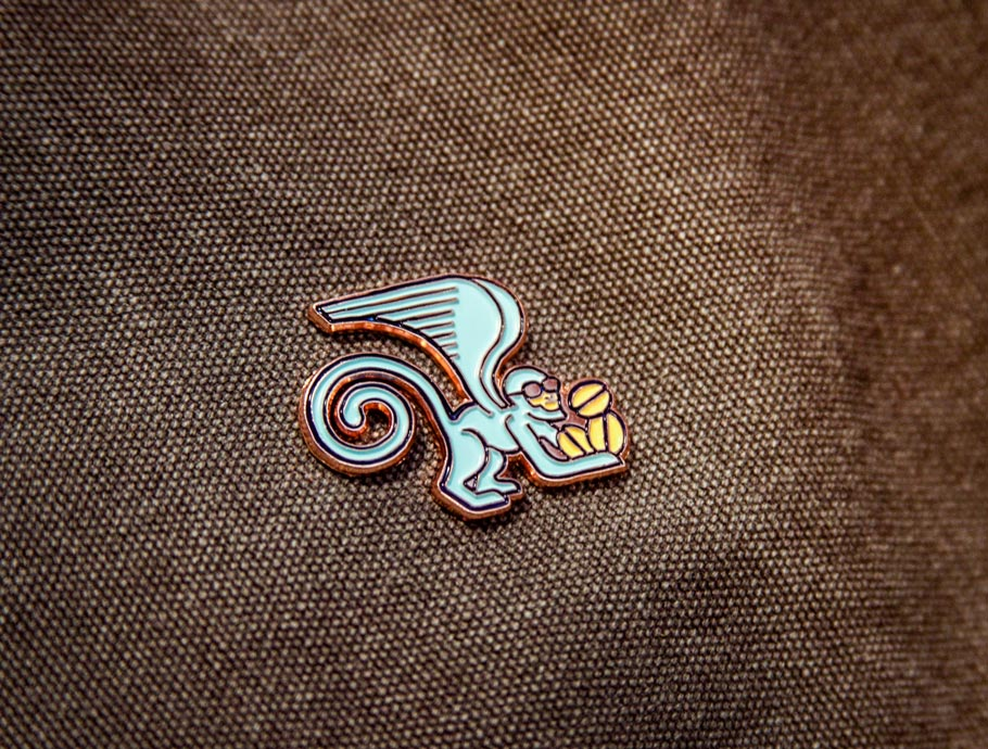 PT's Flying Monkey Enamel Pin