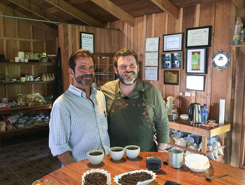 PT's Jeff Taylor with Roberto Brenes of Auromar Estate