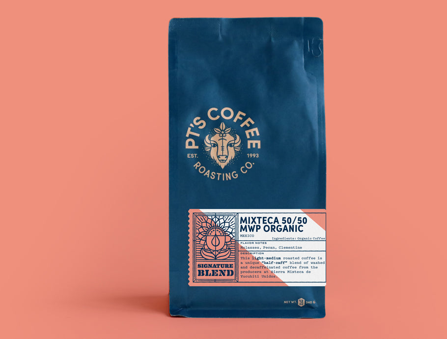 Bag of PT's Coffee Mixteca 50/50 MWP Organic Signature Blend