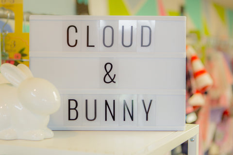 cloud and bunny, childrens store, consignment, chicago,