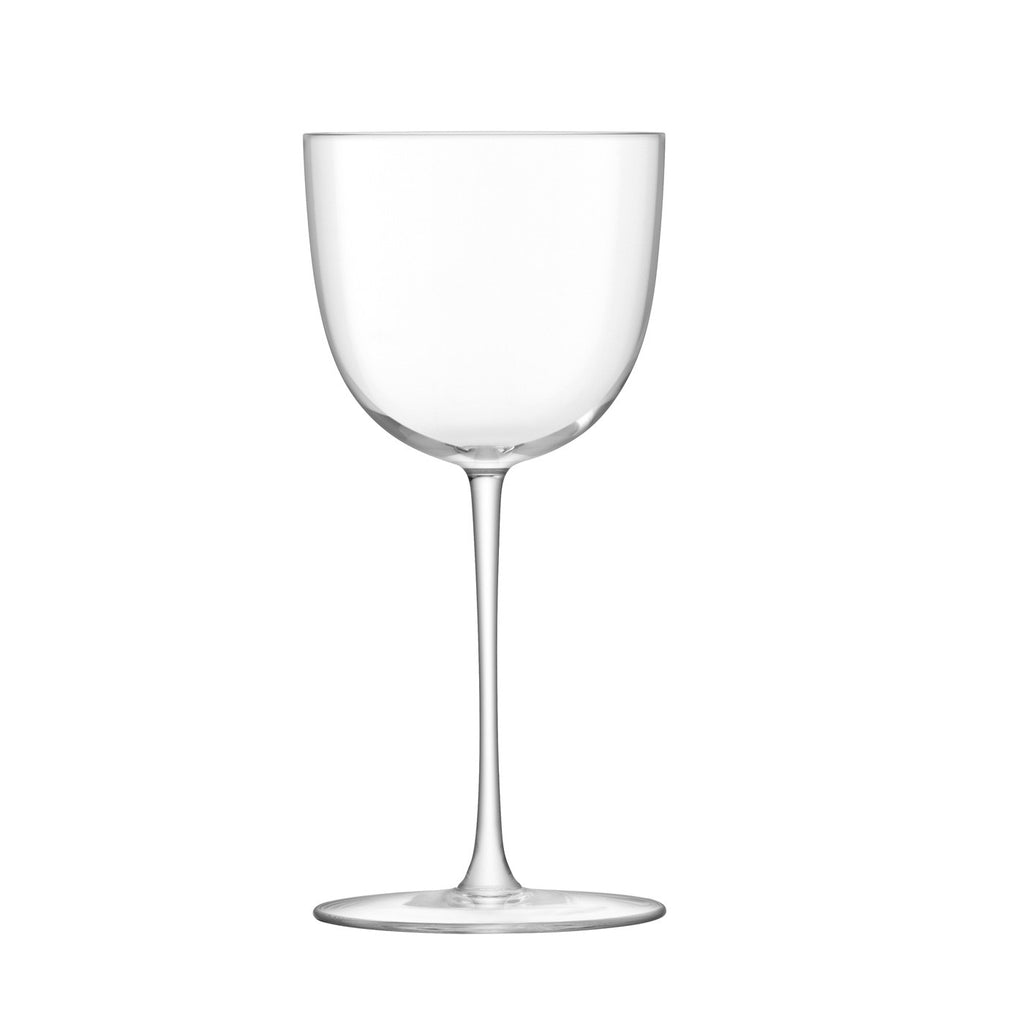 Pair of Red Wine Footed Base Glasses