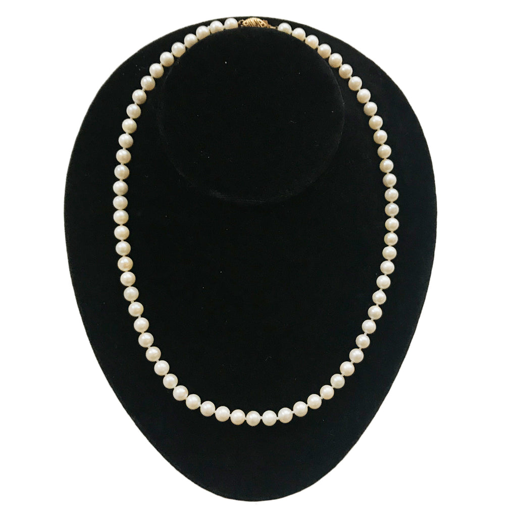 Pearl Necklace With 18K Yellow Gold Clasp