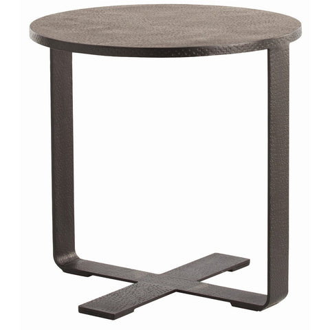 Hammered Iron End Table