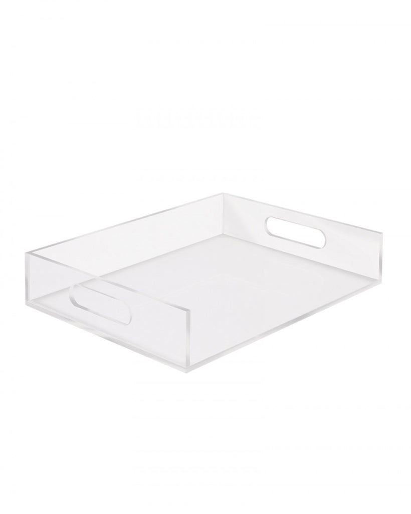 This acrylic inbox box is very versatile and ideal for organizing. Style it with one of our other acrylic items.