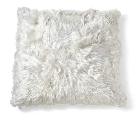 Square Ivory Alpaca Pillow