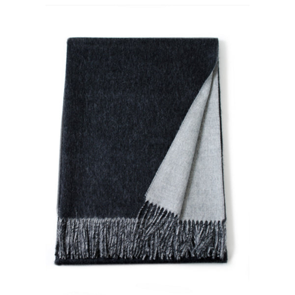 Reversible baby alpaca throws are versatile additions to either your decor or wardrobe.