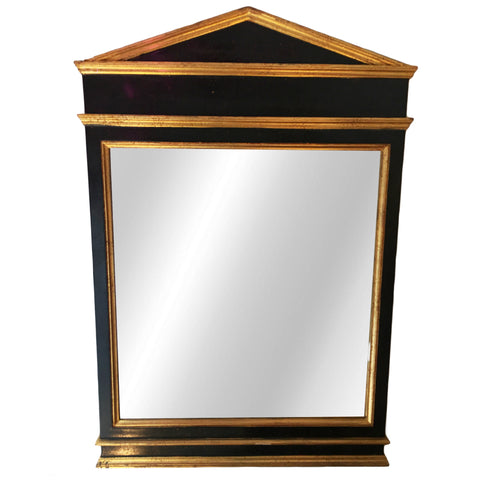 Black and Gold Painted Mirror