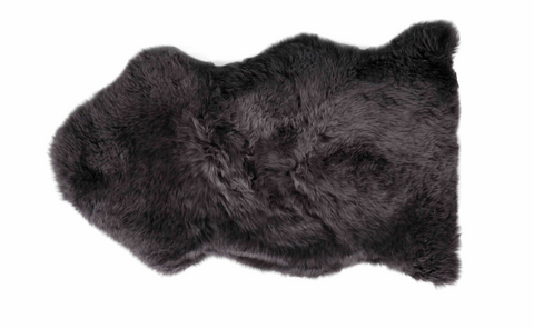 Blackberry Sheepskin Rug adds texture and form to any space