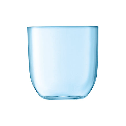 Set of 2 Pale Turquoise Glass Tumblers