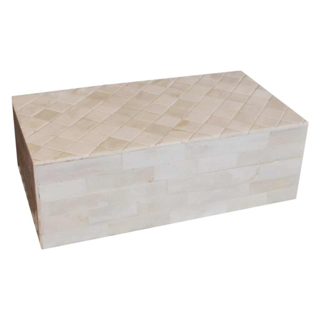 White Horn Diamond Top Box