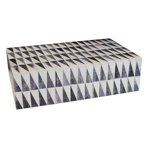 Grey and White Triangle Horn Box