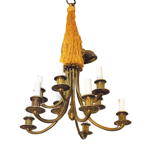 19th C French Bronze Chandelier