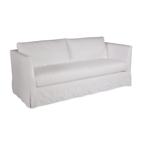 Contemporary slipcovered two seater sofa