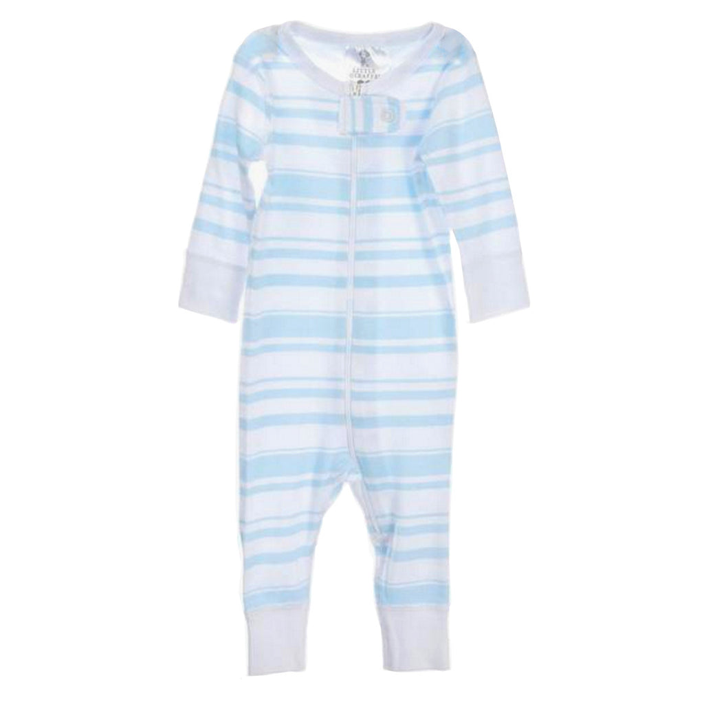 Little Giraffe stripe cotton romper. 100% Cotton.