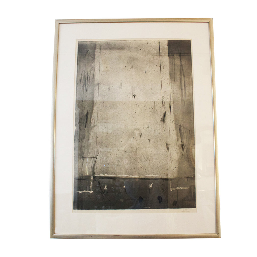 Antoni Tapies Untitled Lithograph signed. Edition: 40/50 1960
