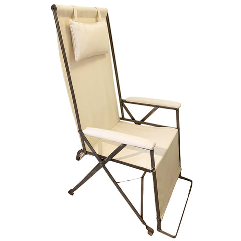 1930's Folding Steel Garden Chair