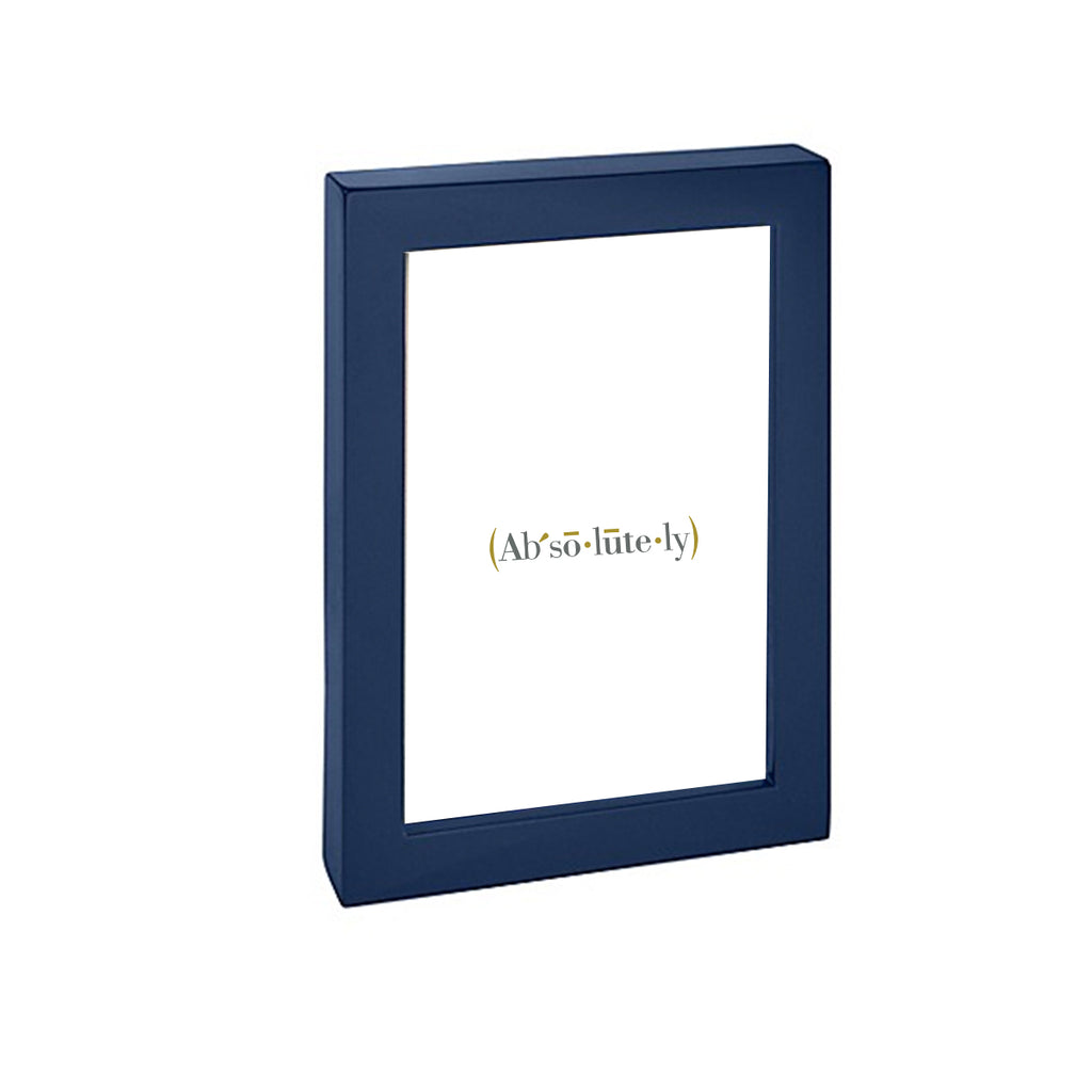 Navy Lacquer Picture Frame