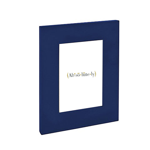Blue Lacquer Picture Frame