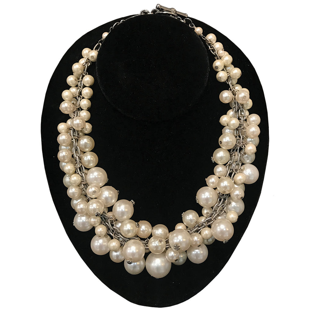 French Multi Pearl Necklace