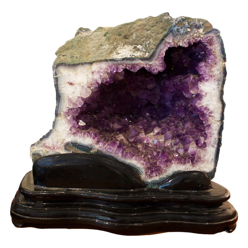 Large Brazilian Amethyst Geode On Stand