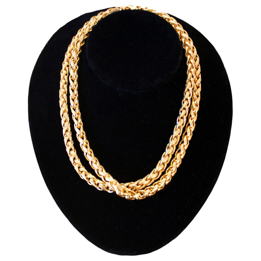 French long chain link necklace by Poggi Paris.
