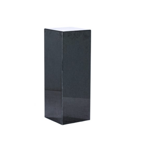 Vintage Black Granite Pedestal