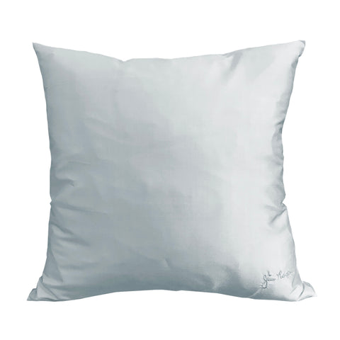 Ice Blue Silk Pillow