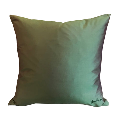 Fern Green Silk Pillow