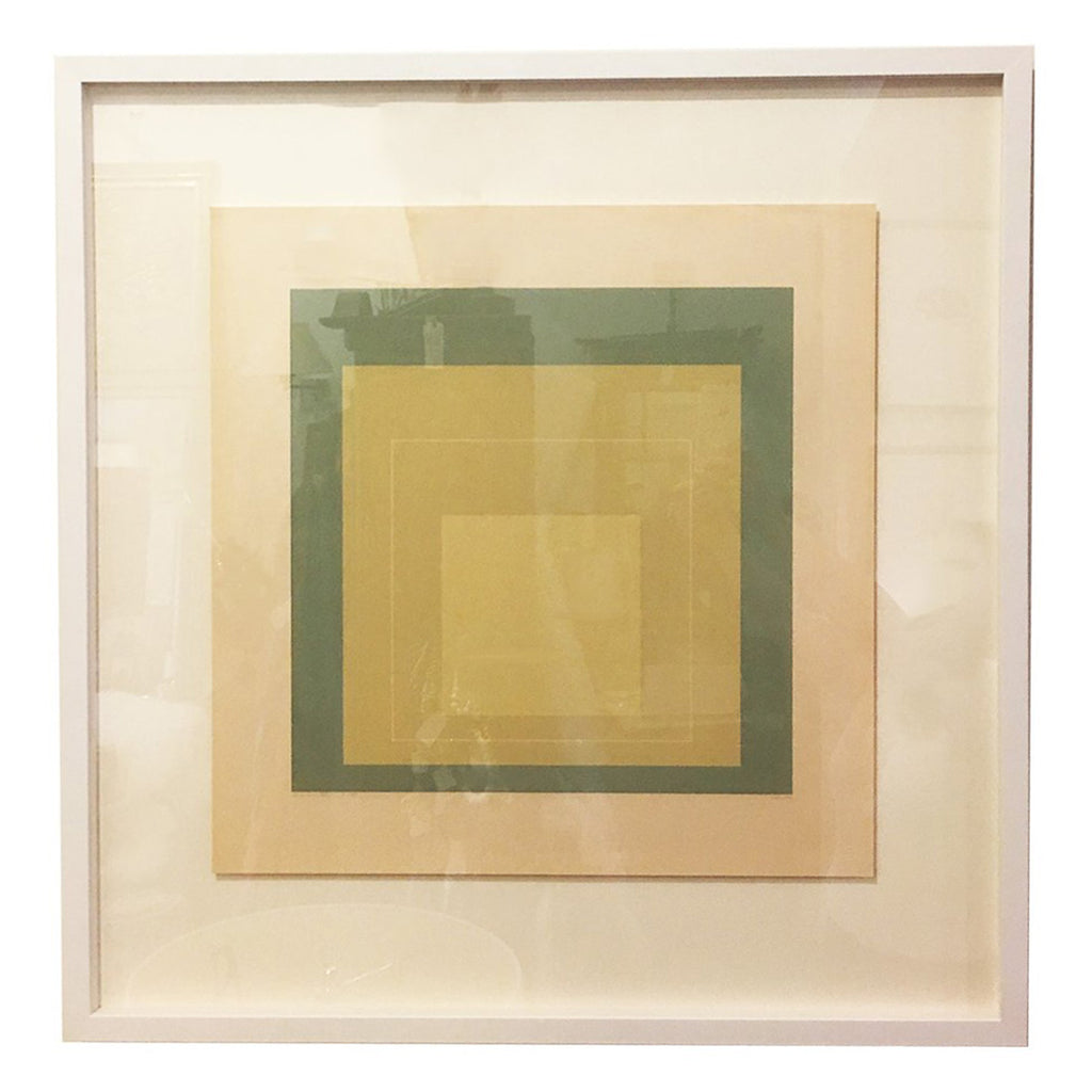 "Josef Albers Lithograph ""White Line Squares VII"""