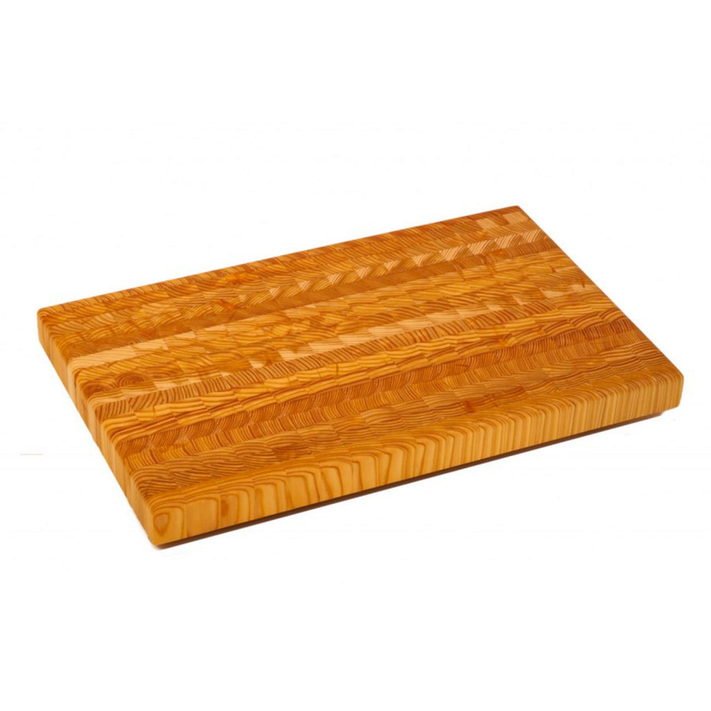 Larch Wood large cutting board is a beautifully crafted piece ideal for serving and preparation.