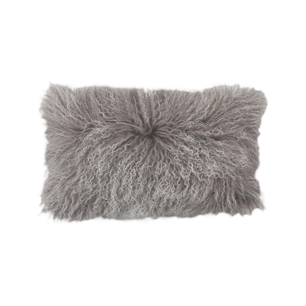 Moonshine Tipped Tibetan Lamb Pillow
