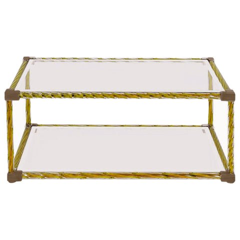 Italian Venetian Murano Glass Coffee Table