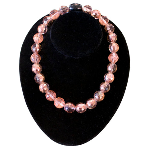 French Pink Bead Necklace